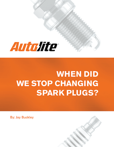 When Did We Stop Changing Spark Plugs?